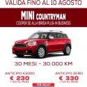 Offerta straordinaria: Mini Cooper ibrida a 330 euro mese senza anticipo per gli associati CNA