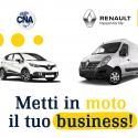Con Renault extra-sconti alle imprese associate a CNA! Metti in moto il tuo business!